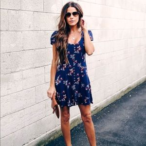 Vici Collection Magic Night Floral Babydoll Dress